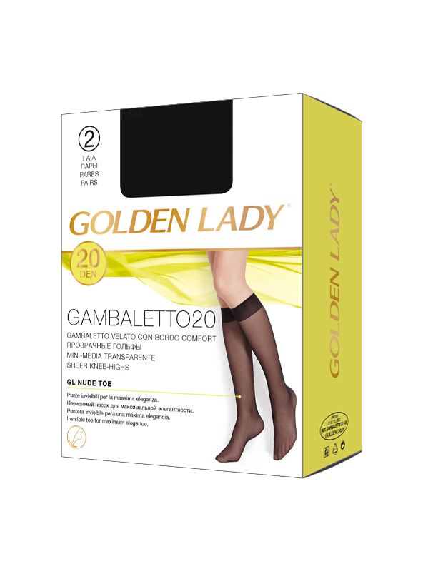 Гольфы Golden Lady Gambaletto Filanco 20, 2 Paia - фото 1