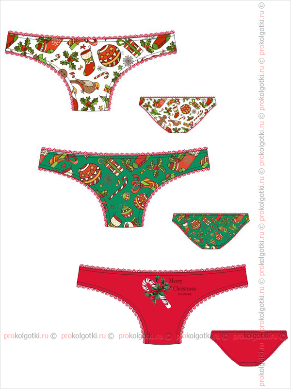 Бельё Женское Innamore Intimo Imd Merry Christmas 83331780 Set Slip (3 Pieces) - фото 1