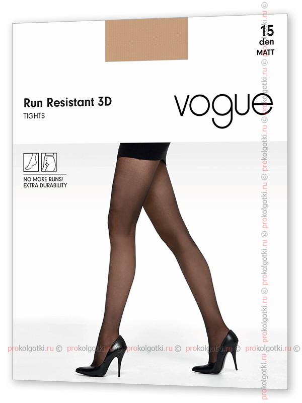 Колготки Vogue Art. 95309 Run Resistant 15 3D - фото 2